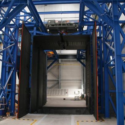 granalladoras de carga suspendida con doble puerta
