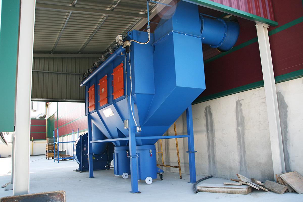 Sistemas de aspiración y depuración de Aire Alju